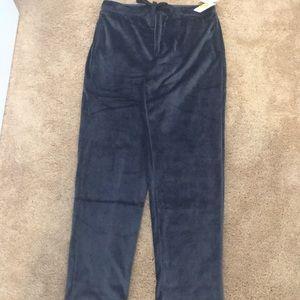"""Natori"" plush sleepwear/go around trousers, NWT,M"